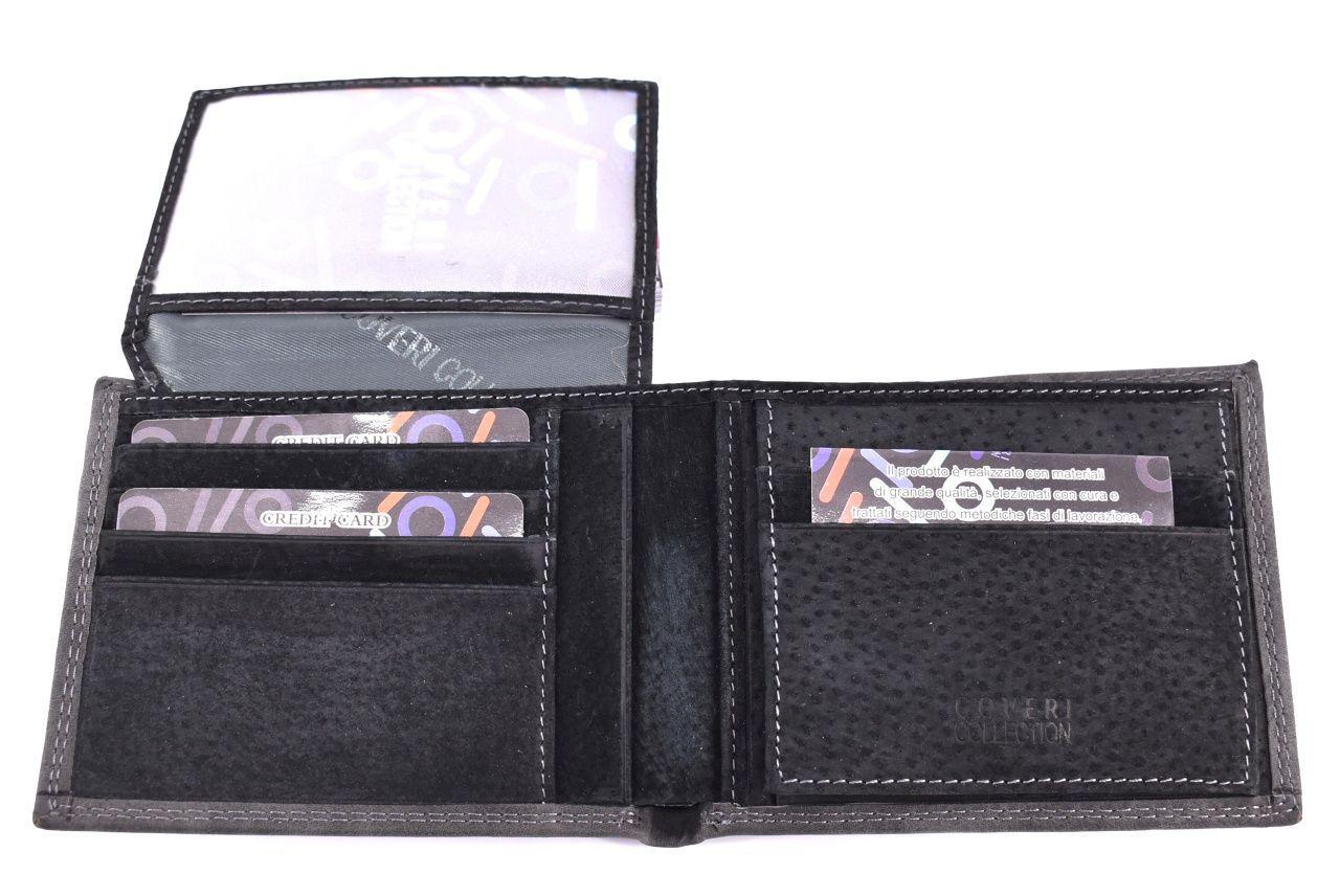 Pánská kožená peněženka Coveri Collection - černá 32615