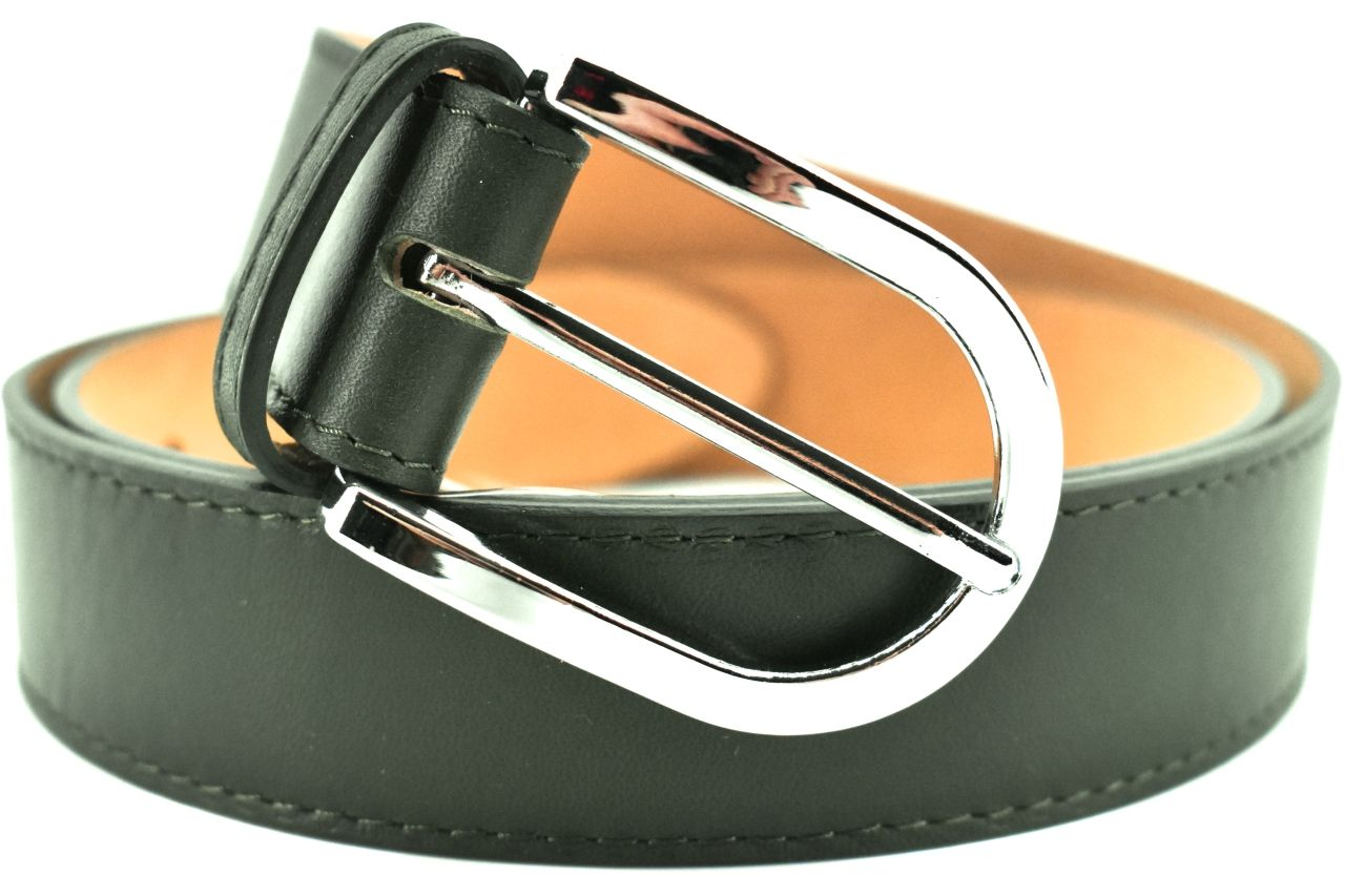 Dámský jednobarevný kožený opasek Arteddy - tmavě zelená/110 38968