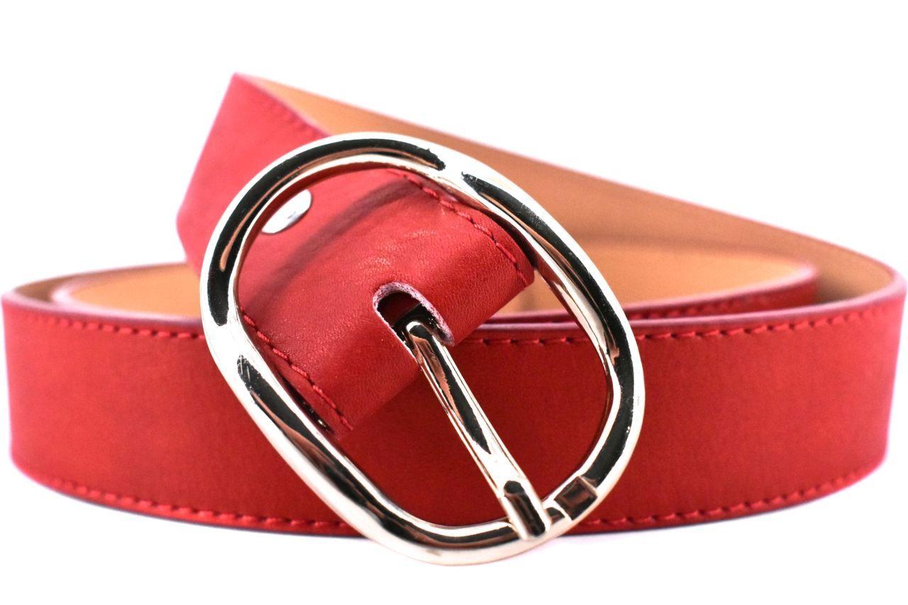 Dámský jednobarevný kožený opasek Arteddy - červená/110 25349