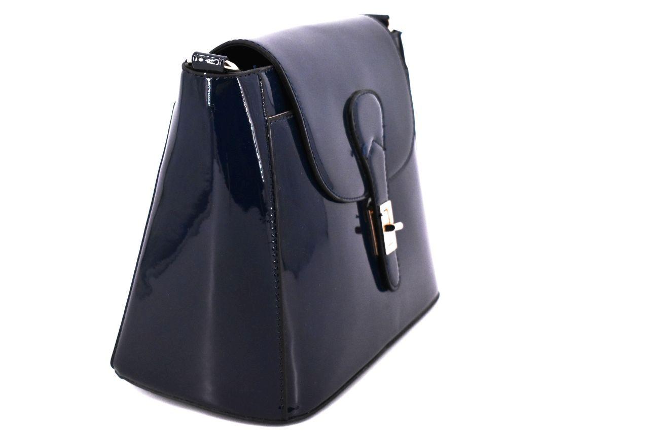 Dámská lakovaná kabelka - béžová 30212