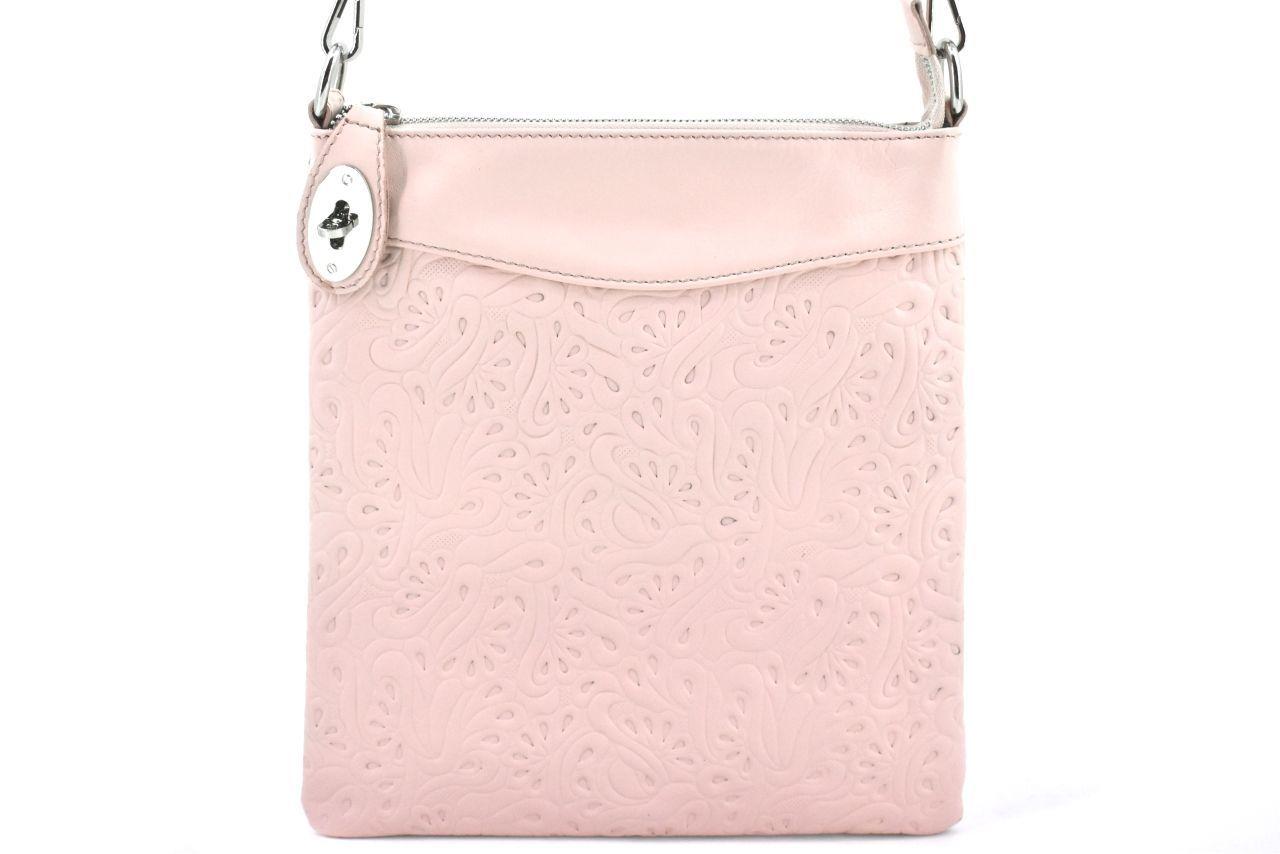 Dámská kožená kabelka crossbody Arteddy - růžová pudrová 35867
