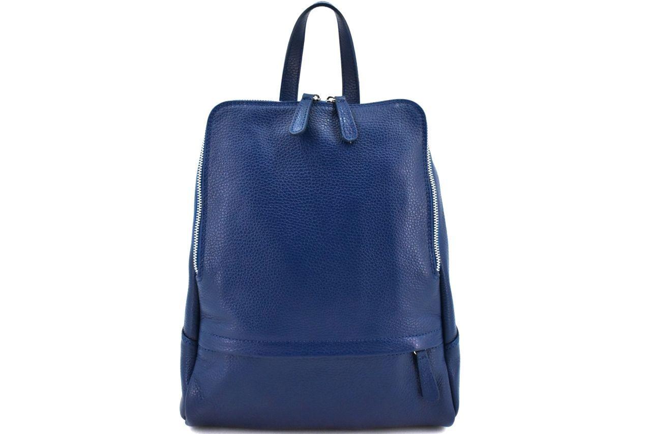 Dámský kožený batoh Arteddy - tmavě modrá 2 36931