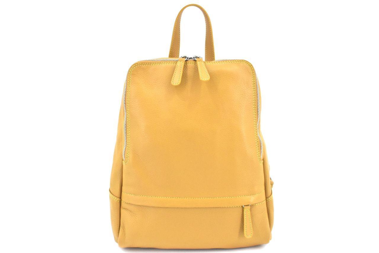 Dámský kožený batoh Arteddy - hořčicová 36931