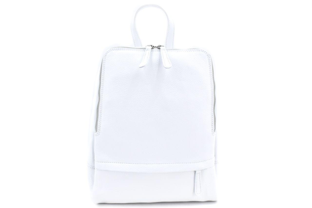 Dámský kožený batoh Arteddy - bílá 36931