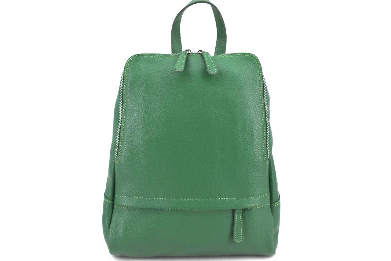 Dámský kožený batoh Arteddy - zelená 36931