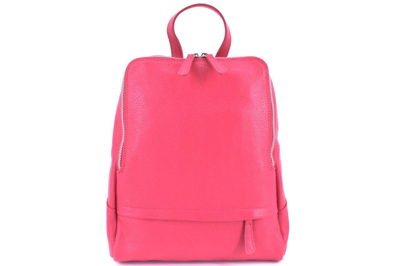 Dámský kožený batoh Arteddy - růžová 36931