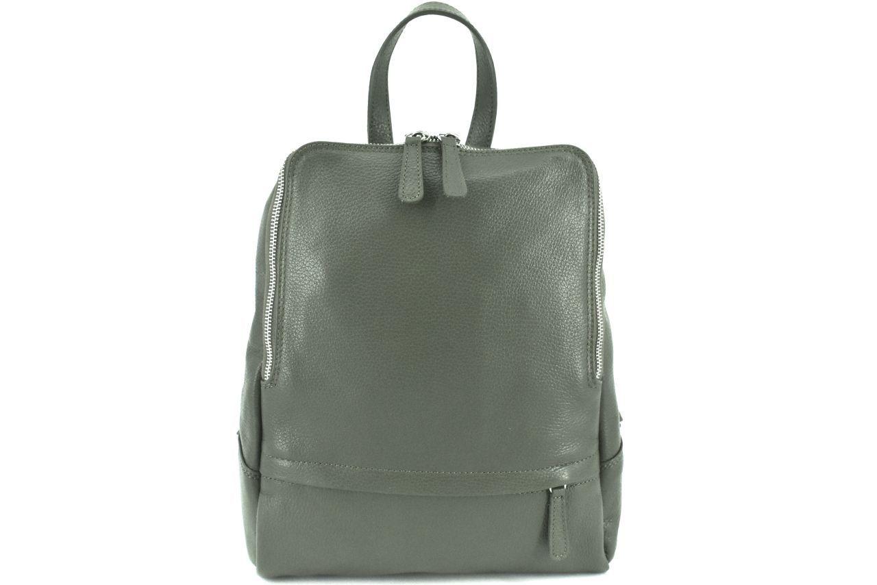 Dámský kožený batoh Arteddy - khaki 36931