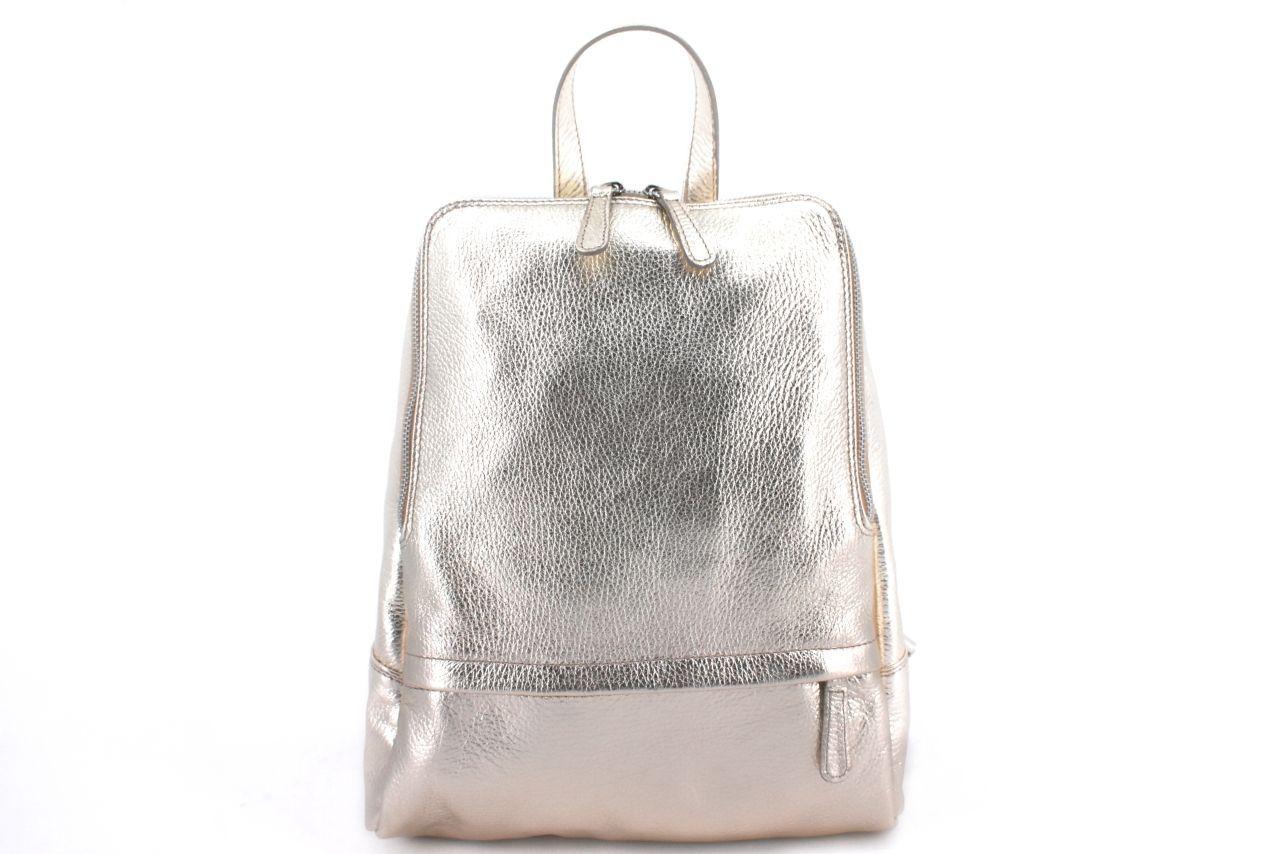 Dámský kožený batoh Arteddy - zlatá 36931