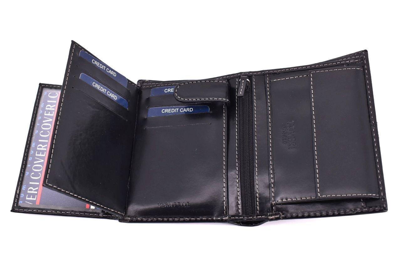 Pánská kožená peněženka Coveri World - černá 32158
