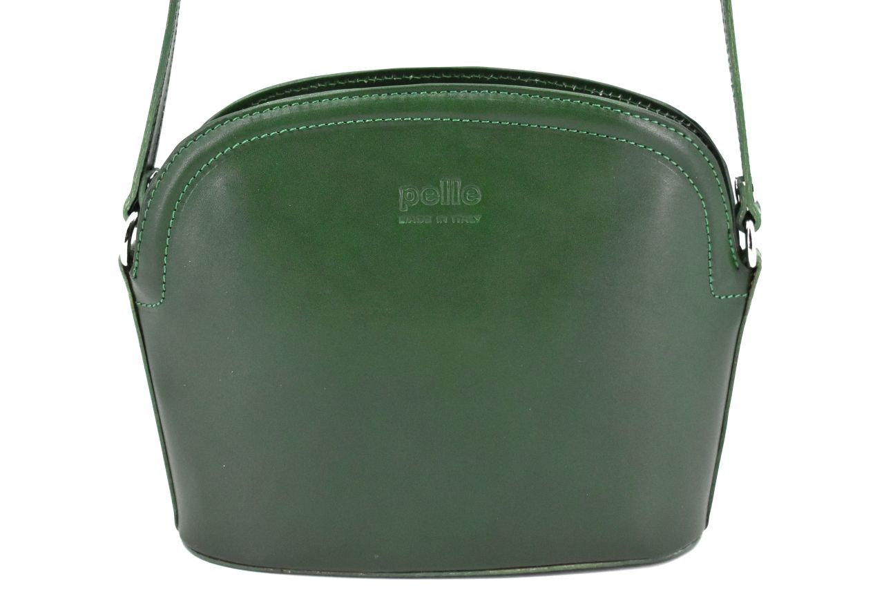 Dámská kožená kabelka crossbody Arteddy - tmavě zelená 38972