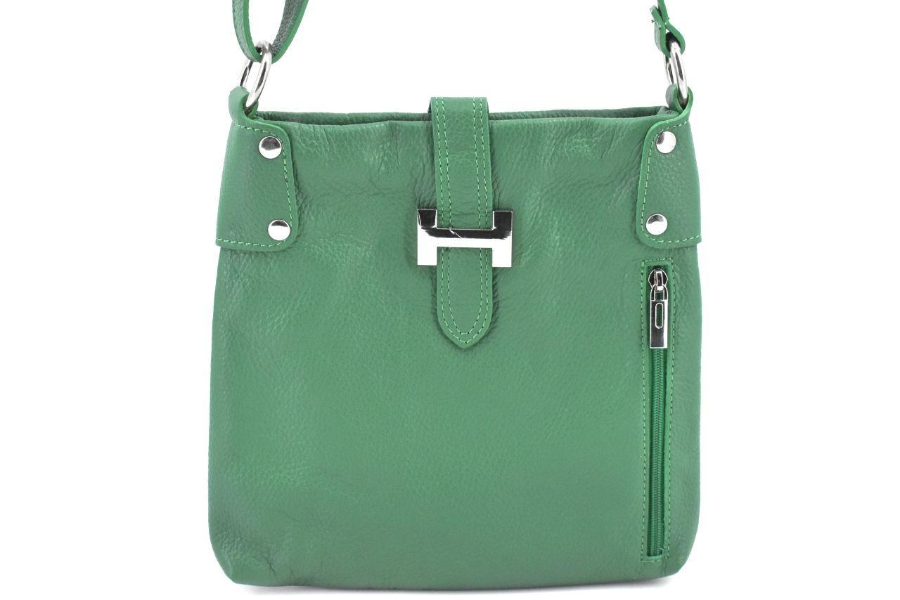 Dámská kožená kabelka crossbody Arteddy - zelená 36942