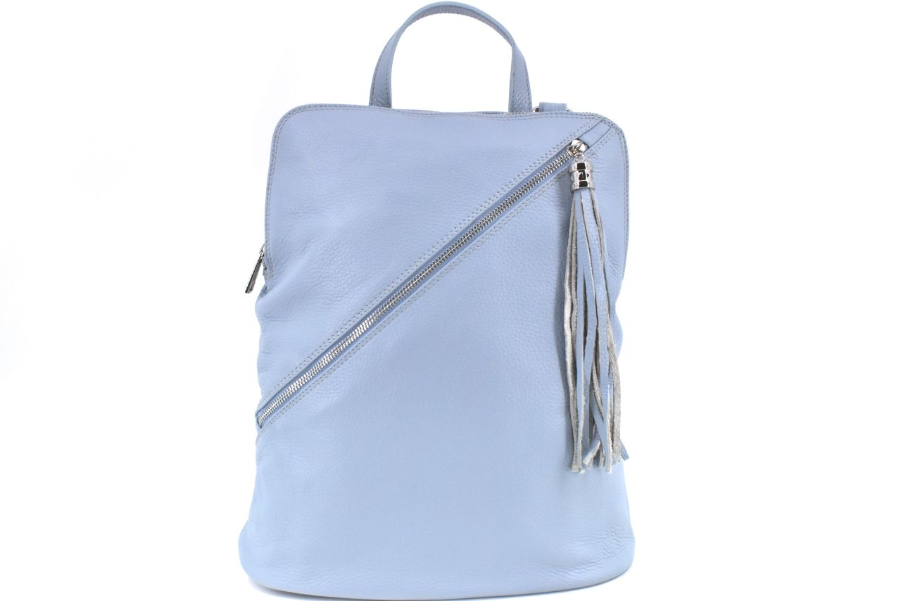 Dámský kožený batoh a kabelka v jednom /Arteddy - světle modrá 36932