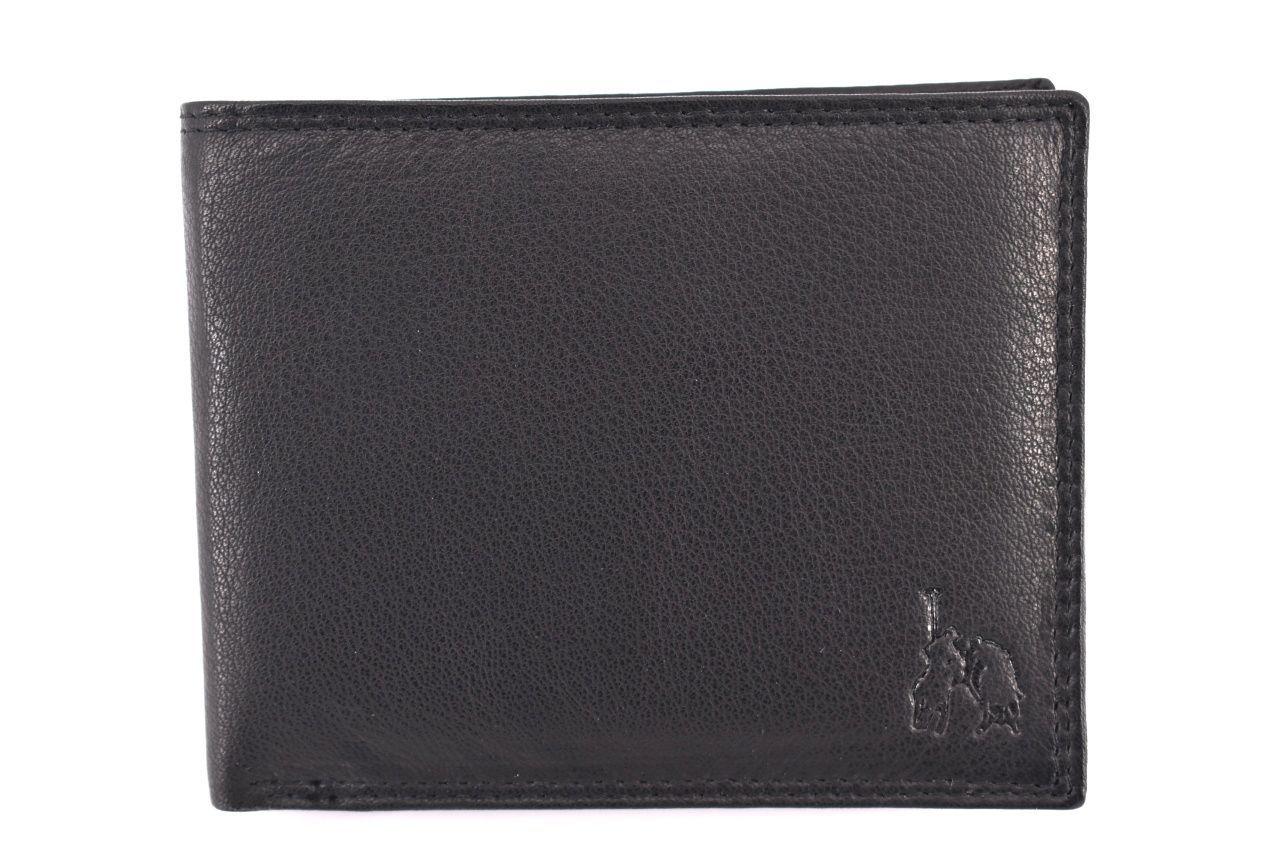 Pánská kožená peněženka Cortina polo style - černá 32623