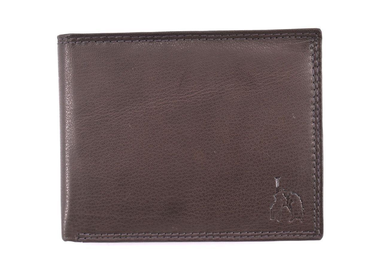 Pánská kožená peněženka Cortina polo style - tmavě hnědá 32623
