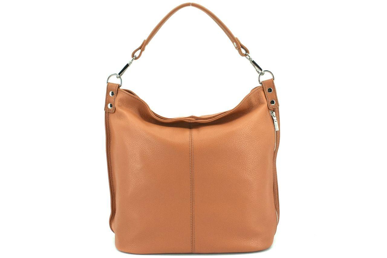 Dámská kožená kabelka Arteddy - světle hnědá 36921
