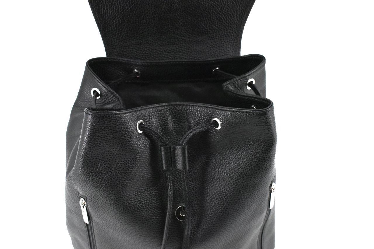 Dámský kožený batoh s klopnou Arteddy - tmavě červená 39948