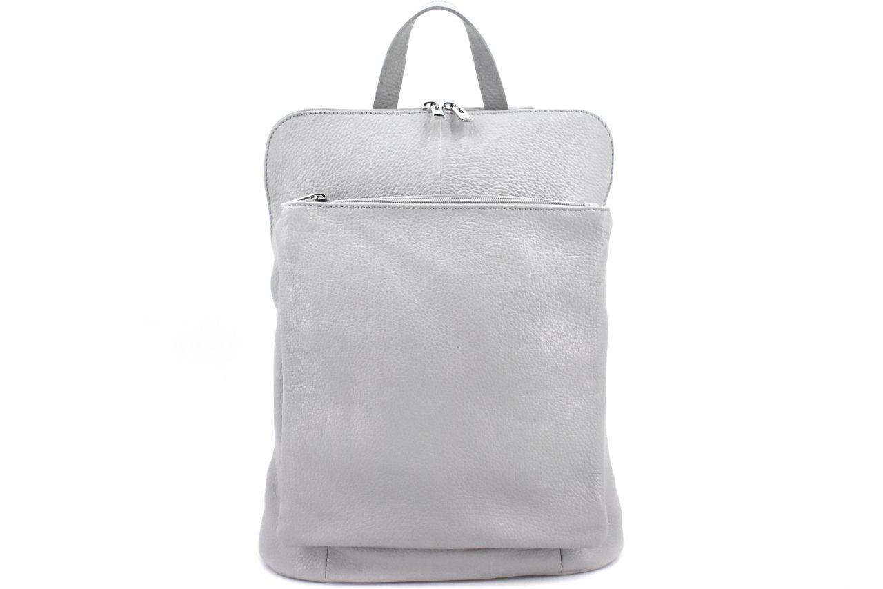 Dámský kožený batoh a kabelka v jednom / Arteddy - světle šedá 36933