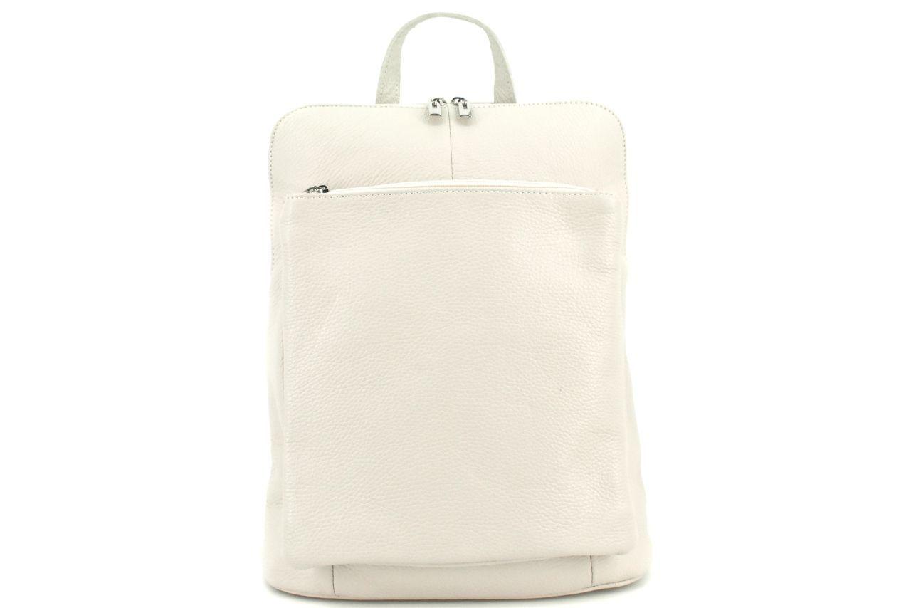 Dámský kožený batoh a kabelka v jednom / Arteddy - krémová 36933