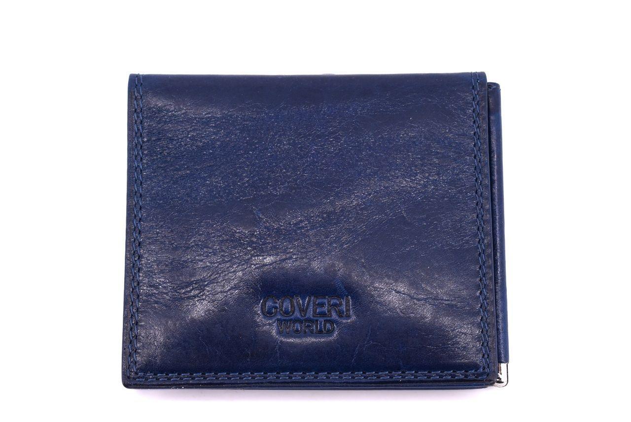 Pánská kožená dolarovka Coveri World - modrá