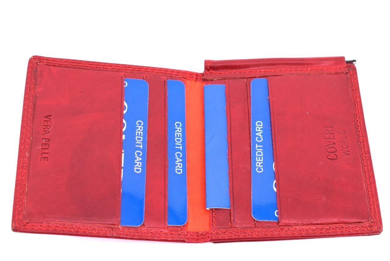 Pánská kožená dolarovka Coveri World - červená