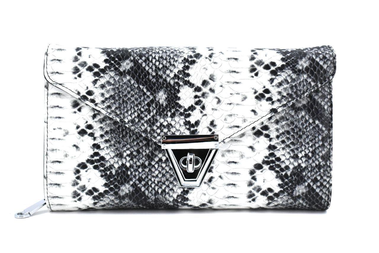 Elegantní kožená kabelka psaníčko Arteddy - černá 39953