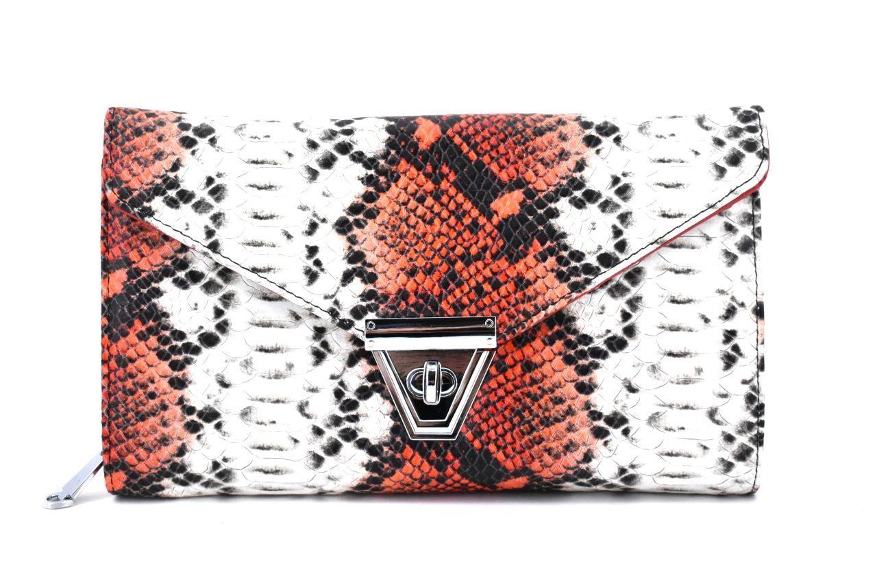 Elegantní kožená kabelka psaníčko Arteddy - červená 39953