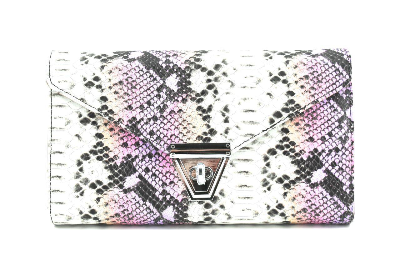 Elegantní kožená kabelka psaníčko Arteddy - fialová 39953
