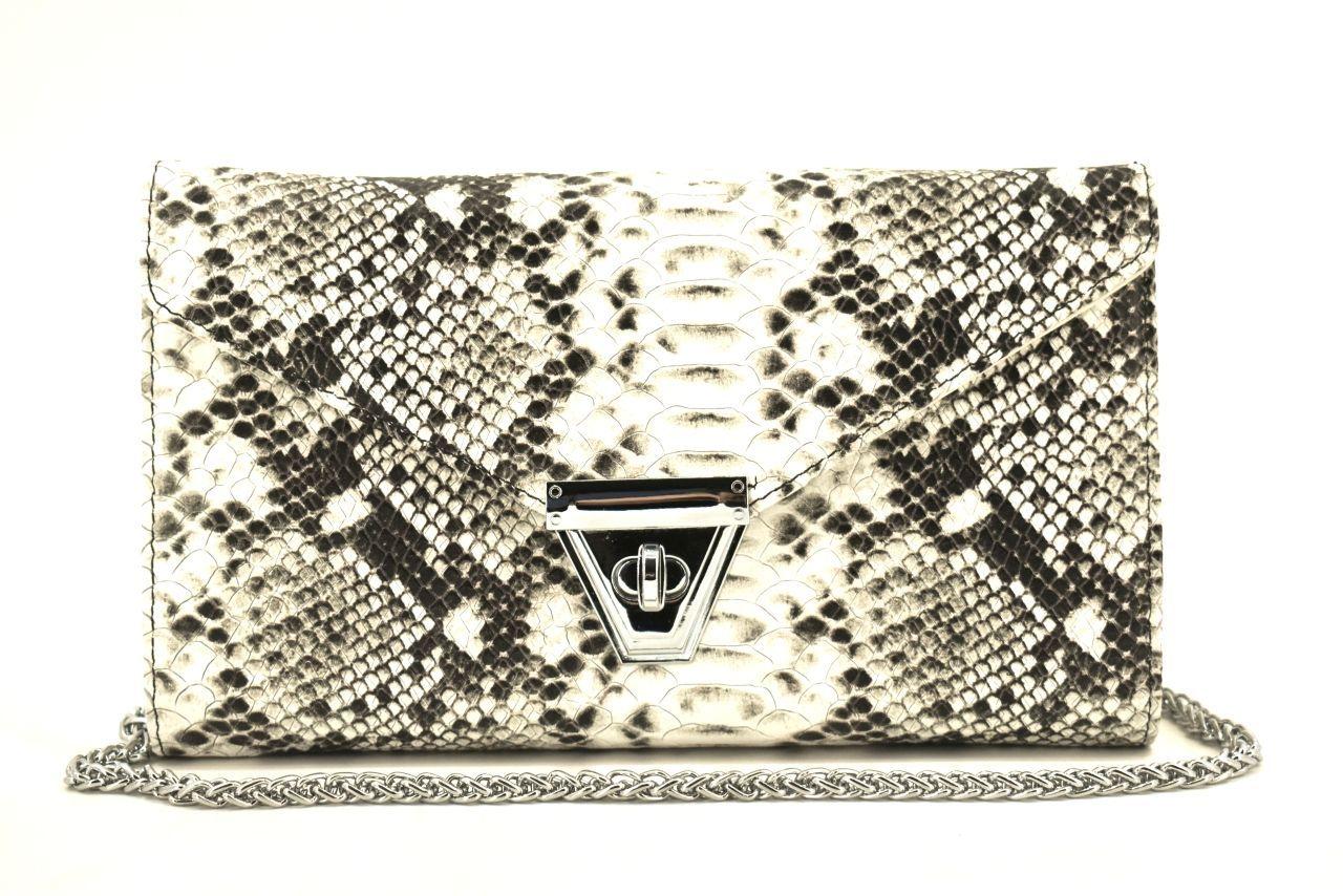 Elegantní kožená kabelka psaníčko Arteddy - béžová 39953