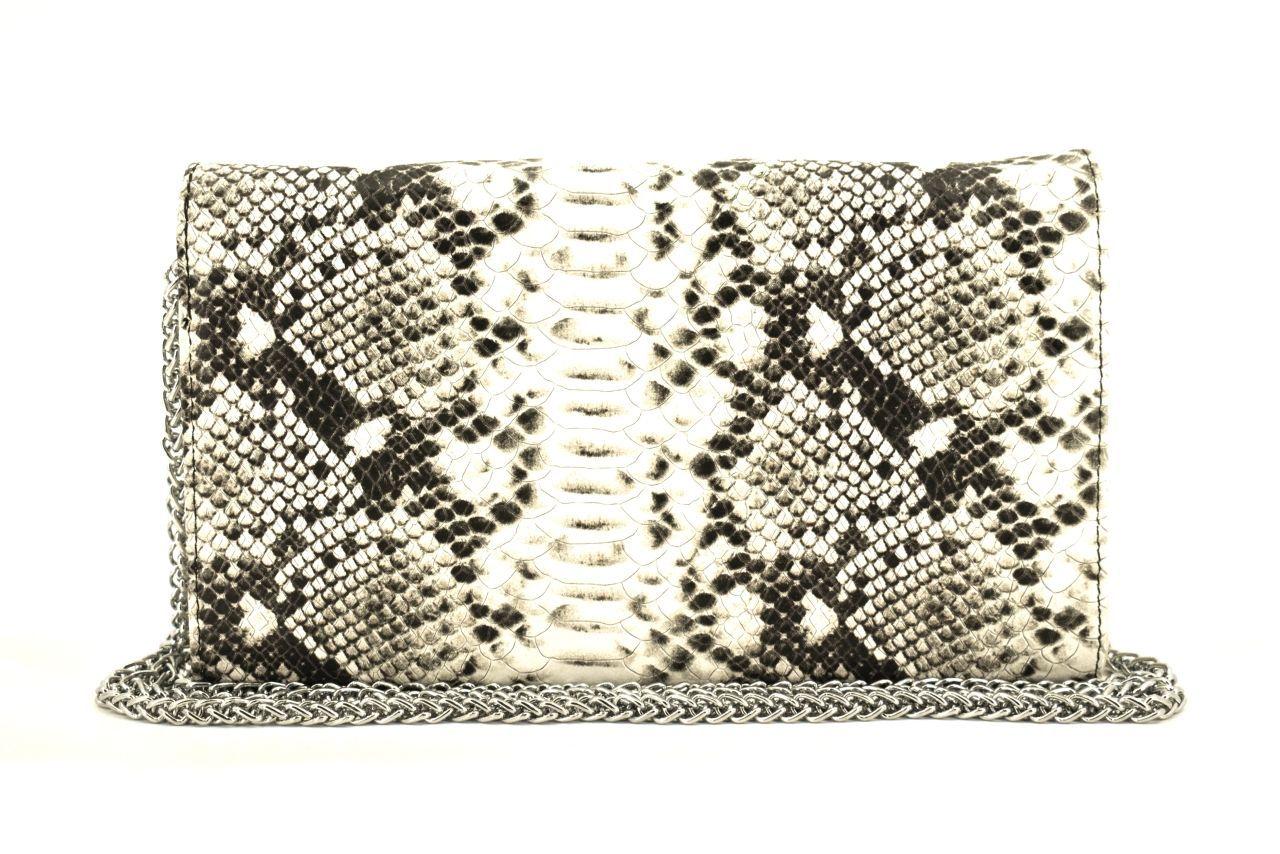 Elegantní kožená kabelka psaníčko Arteddy - modrá 39953