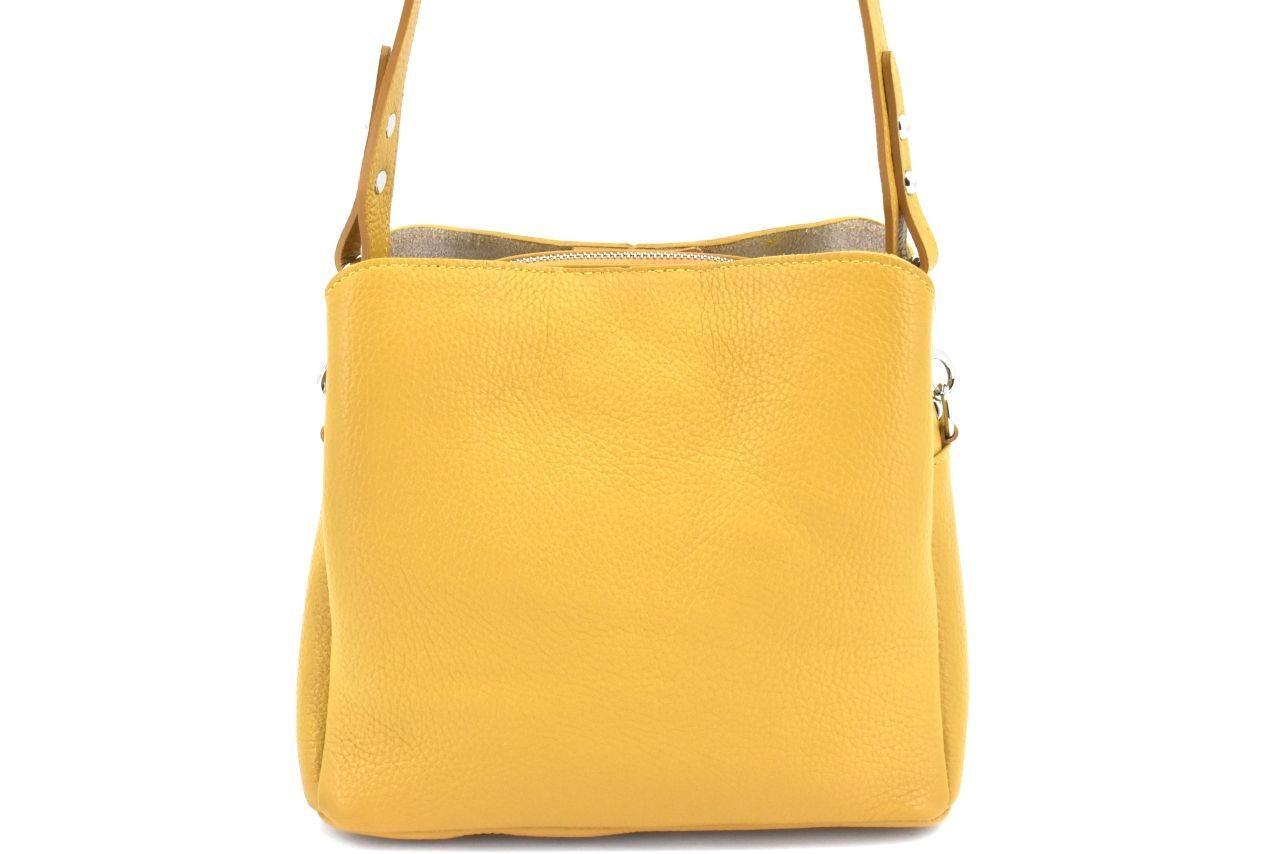 Dámská kožená kabelka Arteddy - žlutá 39957