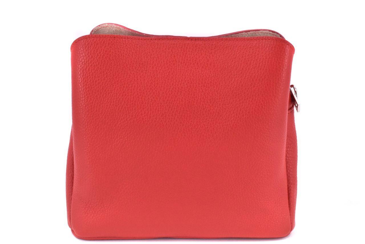 Dámská kožená kabelka Arteddy - červená 39957