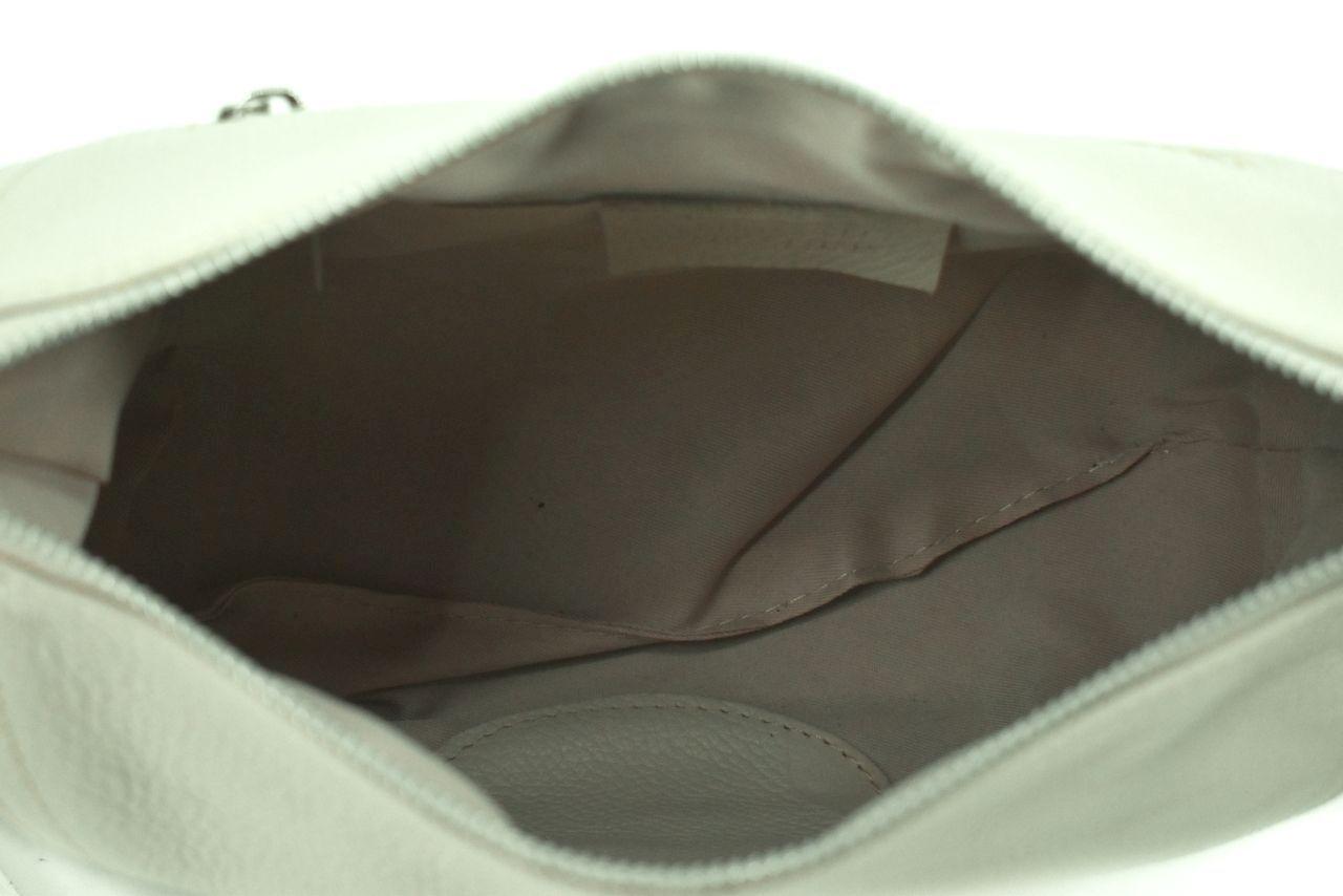 Dámská kožená kabelka crossbody Arteddy - krémová 39992