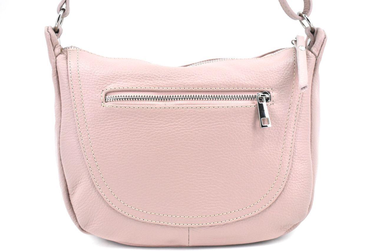 Dámská kožená kabelka crossbody Arteddy - růžová pudrová 39992