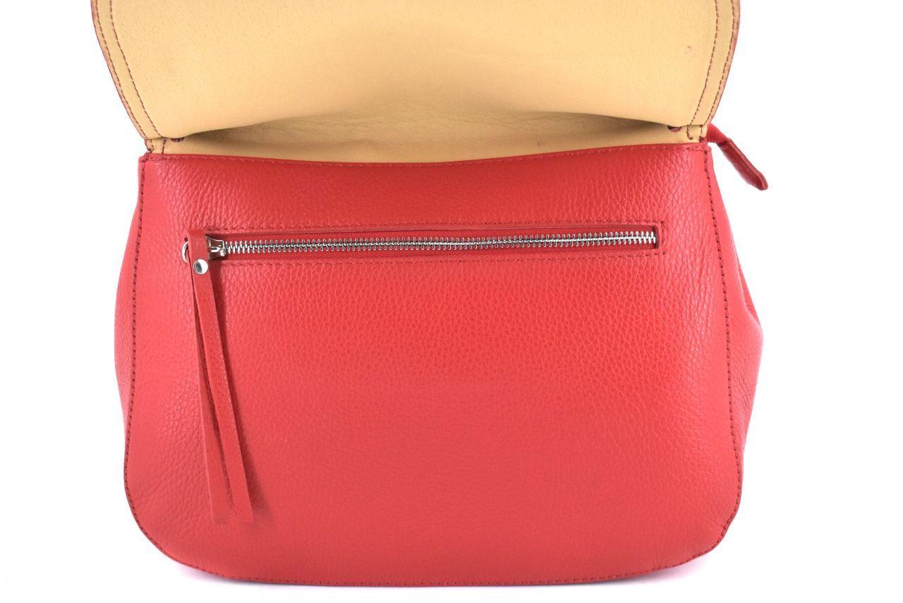 Dámská kožená kabelka Arteddy - červená 39990