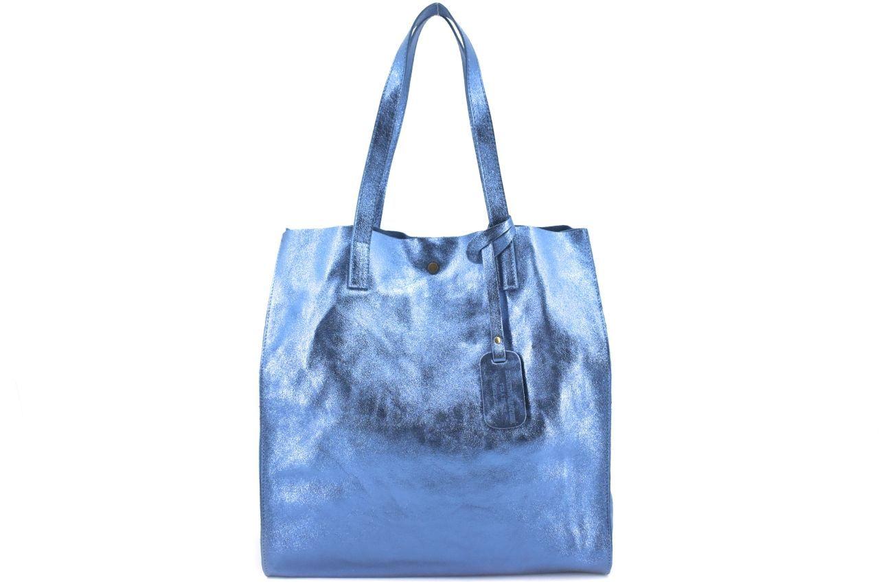 Dámská velká kožená kabelka Arteddy - modrá 39993