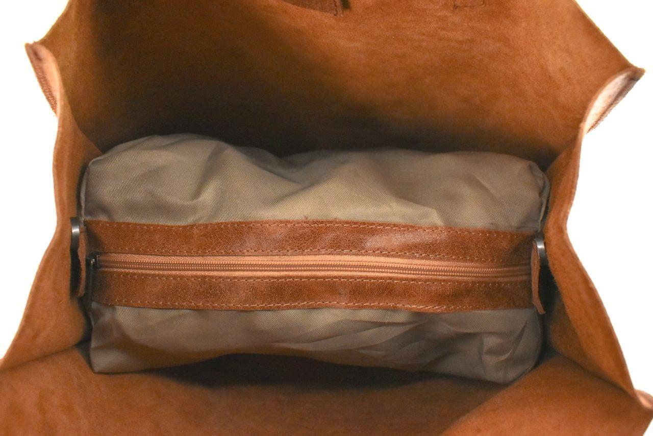 Dámská velká kožená kabelka Arteddy - světle modrá 39994