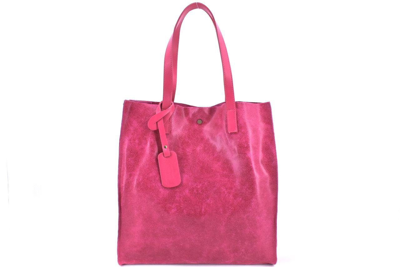 Dámská velká kožená kabelka Arteddy - fuxia 39994