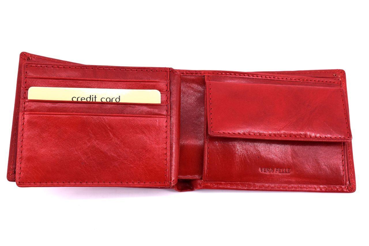 Pánská kožená peněženka Arteddy -tmavě hnědá