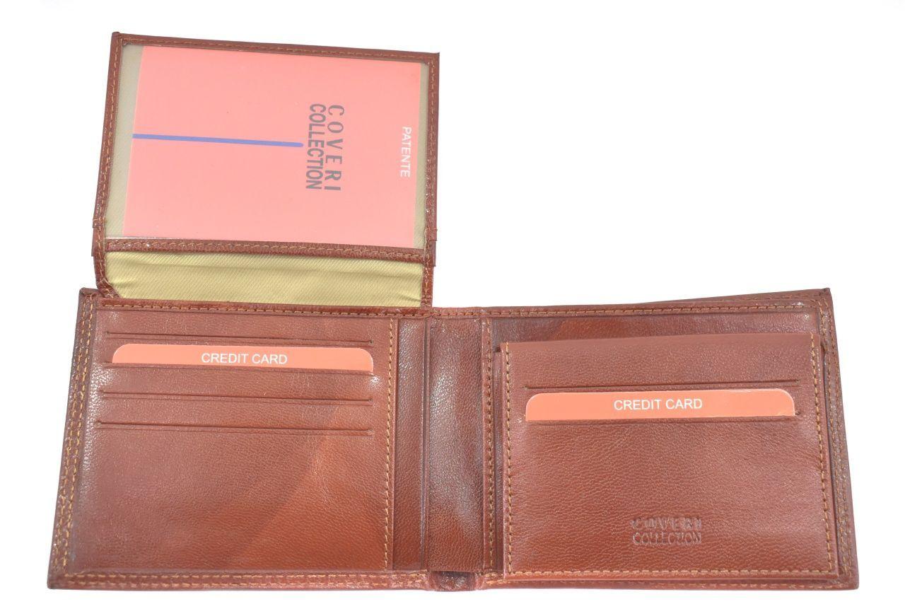 Pánská kožená peněženka na šířku Coveri - hnědá 39818