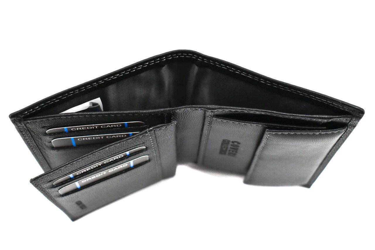 Pánská kožená peněženka s orientací na výšku Coveri - hnědá 37191