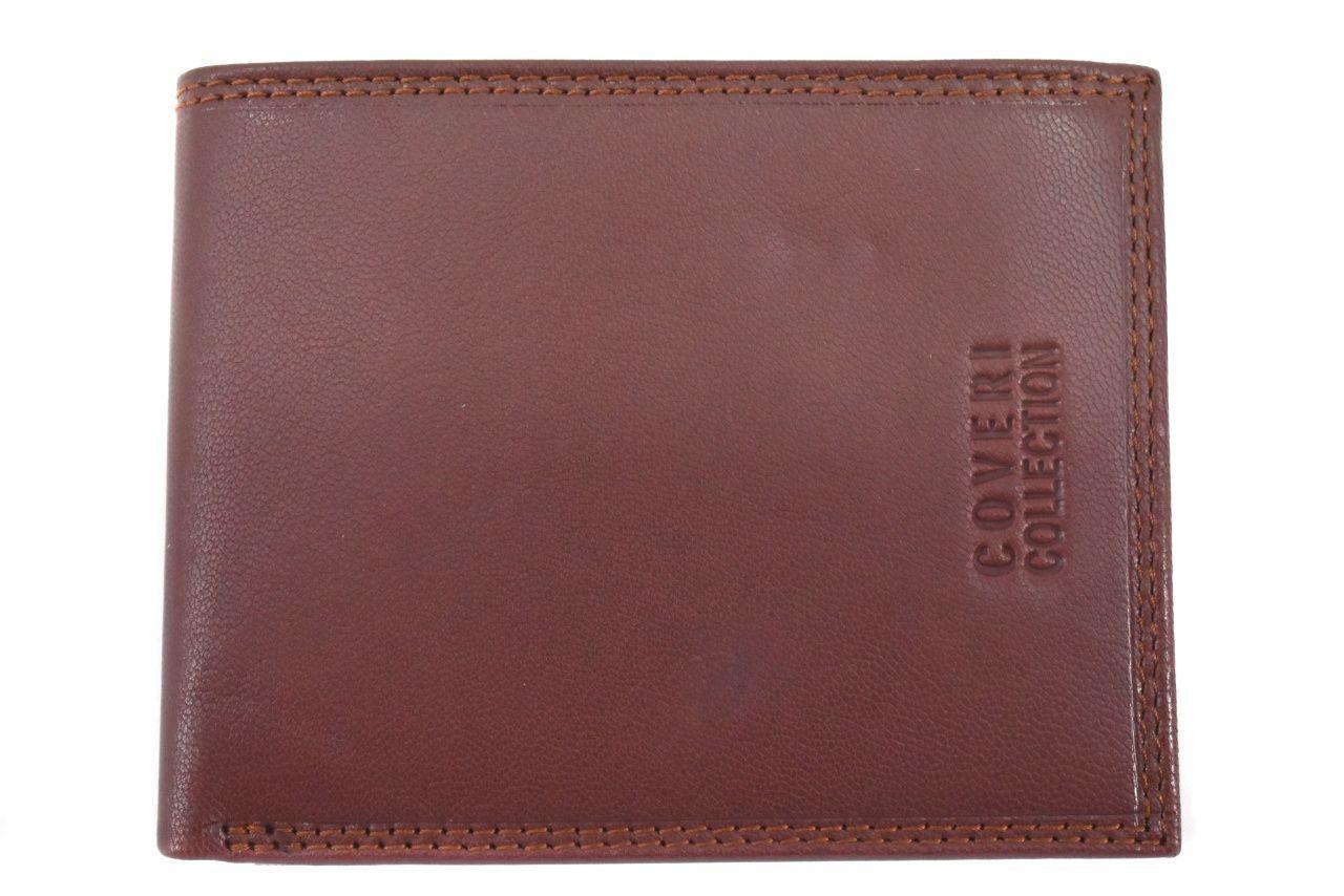 Pánská kožená peněženka na šířku Coveri - hnědá 37193