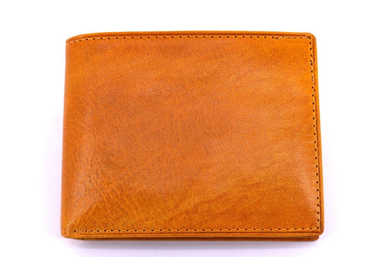 Pánská kožená peněženka Arteddy - žlutá 30250