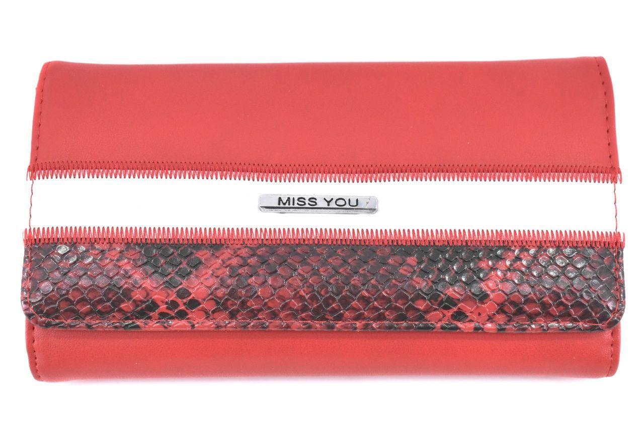 Dámská peněženka Miss You - červená 37177