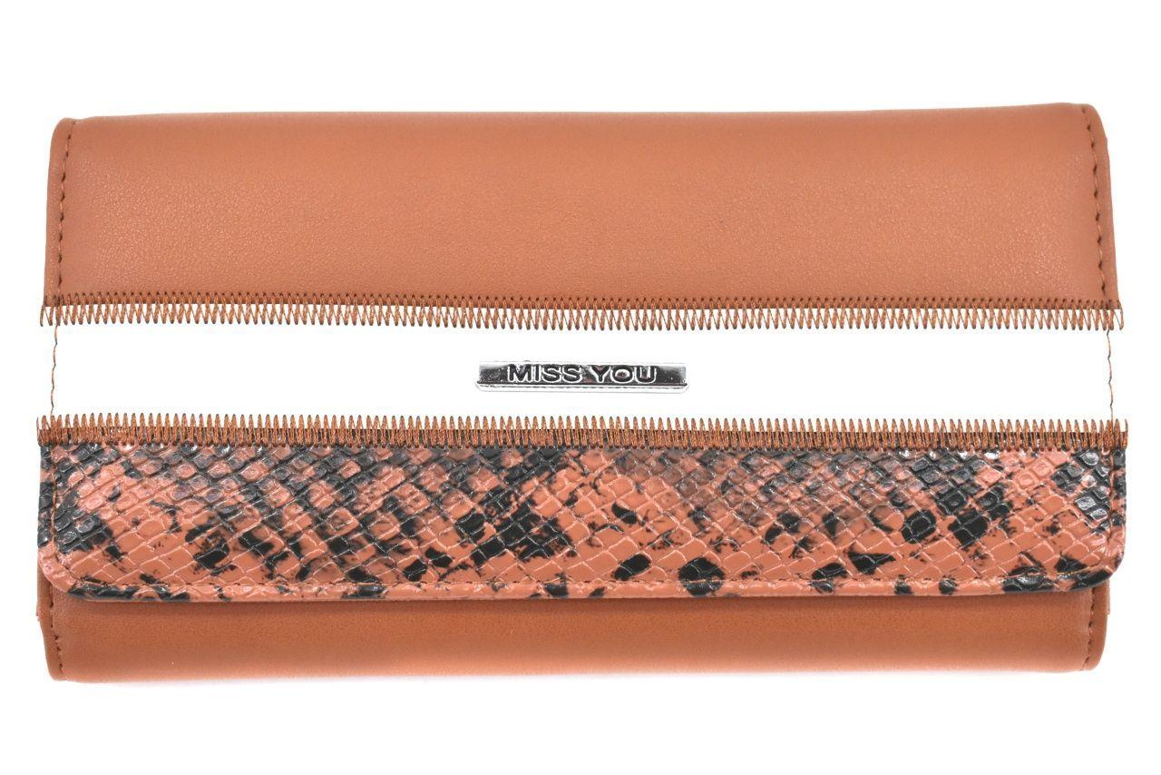 Dámská peněženka Miss You - hnědá 37177