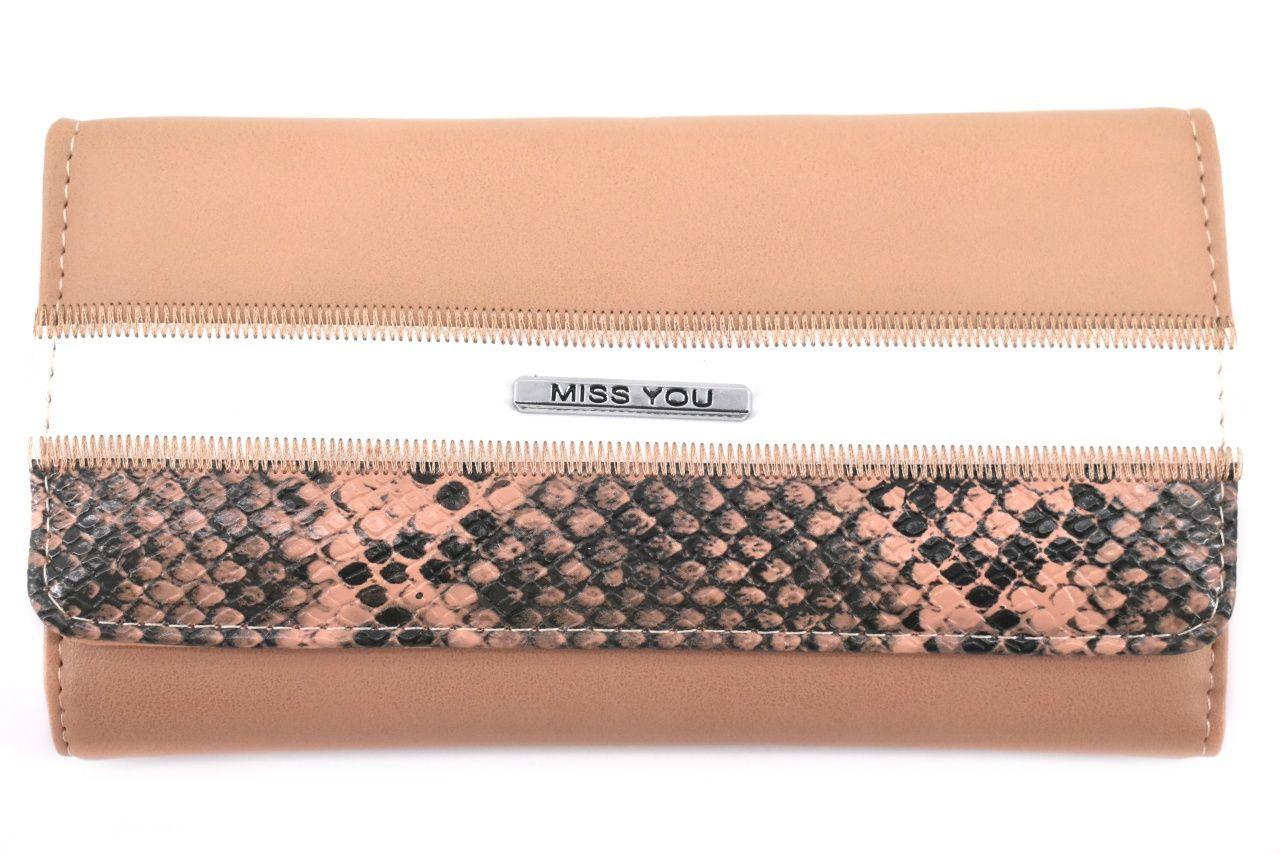Dámská peněženka Miss You - béžová 37177
