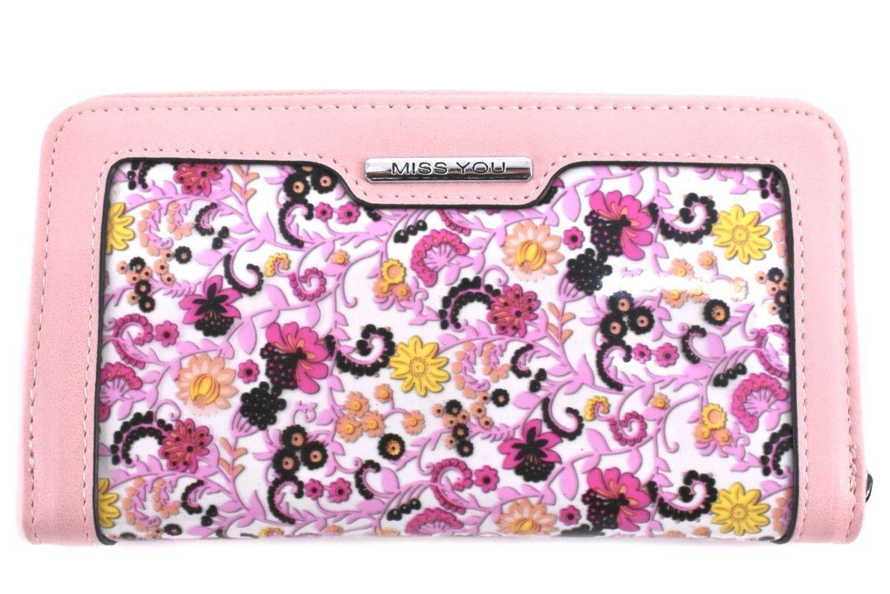 Dámská/dívčí peněženka pozdrového typu Miss You - růžová 37178