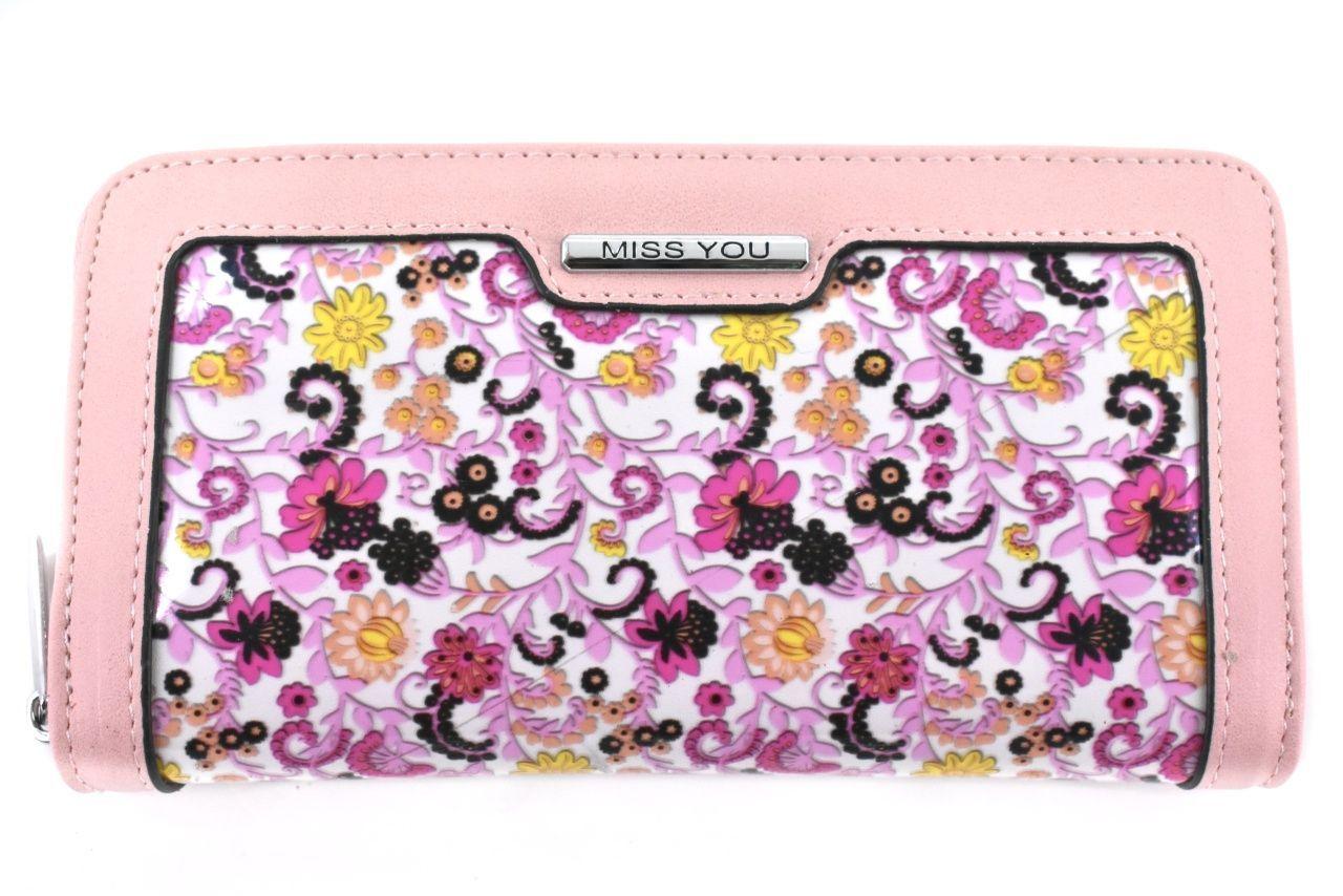 Dámská/dívčí peněženka pouzdrového typu Miss - růžová 37179