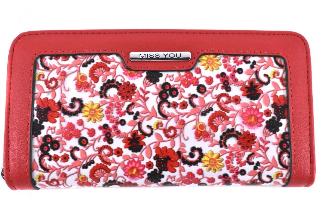 Dámská/dívčí peněženka pouzdrového typu Miss - červená 37179