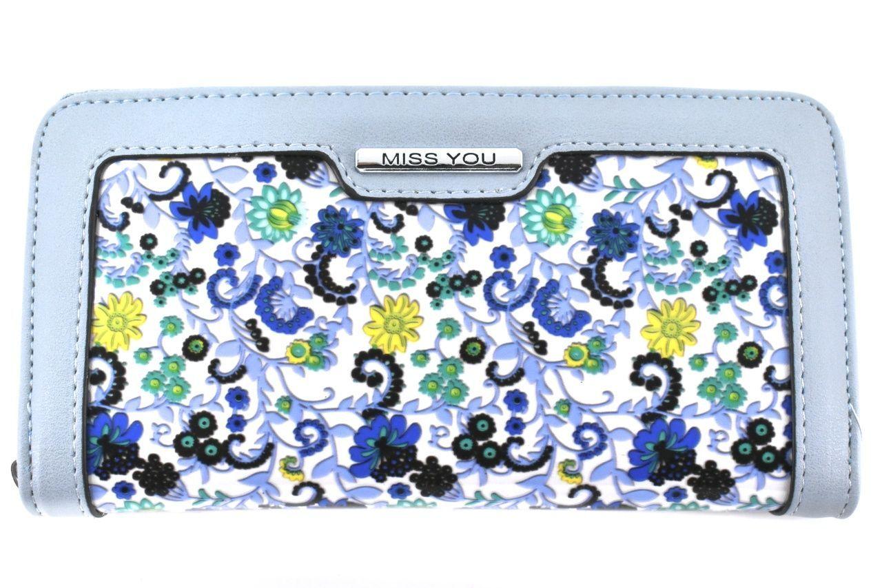 Dámská/dívčí peněženka pouzdrového typu Miss - světle modrá 37179
