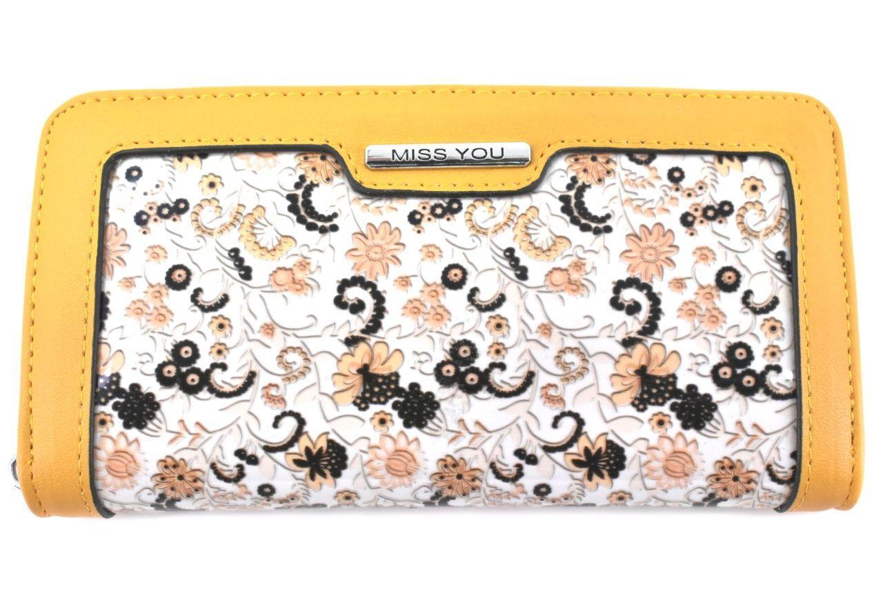 Dámská/dívčí peněženka pouzdrového typu Miss - žlutá 37179